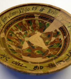 Keramikteller von 1740